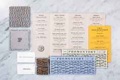 Promontory #menu #identity #food #print