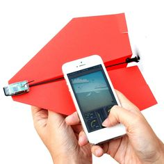 Turn an ordinary paper plane into a remote control aircraft. #airplane #modern #lifestyle #style #design #product #control #industrial #plane #remote #paper #technology