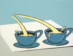 Chimes&Rhymes | innovative design and new techniques in visual artistry #cream #two #tea #blue #cup