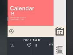 Task #minimal #calendar #clean #weather #flat #task