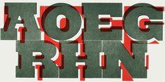 Nick Sherman > Design > Intercut typeface #letterpress #woodtype