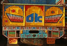 photo #truck #indian #hand #painting
