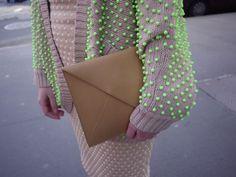 vest #neon #beige #green