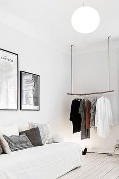 Likes | Tumblr #interior #sofa #paintings #clothes