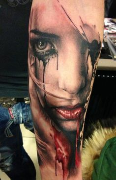 35 Horrible Zombie Tattoos #zombie #tattoos