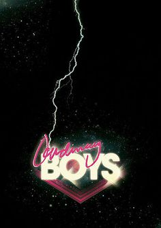 Ordinary Boys Henrik Stelzer 2009 #neon #ordinary #design #graphic #retro #future #lightning #boys #80s #dark #typography