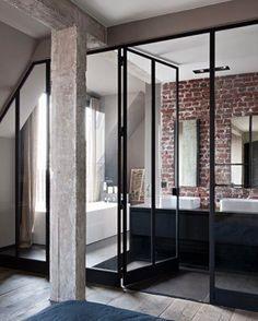 Bookofinteriors - Wall bricked bathroom