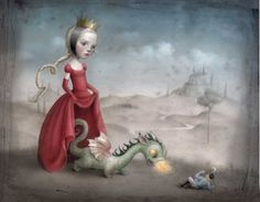 Nicoletta ceccoli illustration - Baby dragon #cute #illustration #fantasy #dragon