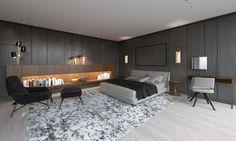 Minotti style bedroom. Architecture studio xe2x80x9ePlazmaxe2x80x9c #viz #render #bedroom #minotti #arch