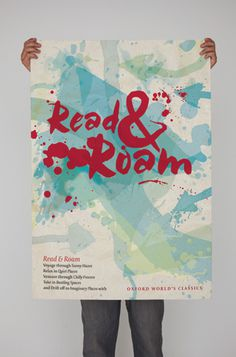[Oxford University Press Read & Roam campaign identity Poster graphic ink splat #print #ink #poster