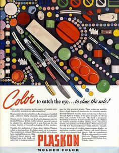 All sizes | ... molded color! | Flickr - Photo Sharing! #lettering #script #color #advertising #vintage #type #magazine