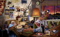 Humorous Fine Art Paintings by Sean Norvet