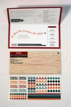 Travel + Leisure Design Awards 2011 Mailer - FPO: For Print Only #packaging #aeroplane #design #travel #template #typography
