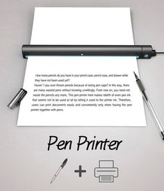 A smart device to make any mobile office complete. The Pen Printer is a pocket-sized wonder that allows documents to be created virtually an #modern #design #product #industrial #printer #pen #style