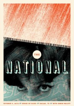 The National : Garrett Karol #gigposter #screenprint #poster