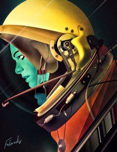 illustration, astro, astronaunt