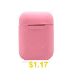 Silicone #Bluetooth #Wireless #Earphone #Case #For #Airpods #Protective #Cover #- #PINK