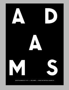 ADAMS Club & Restaurant website. Design: Tony Eräpuro #poster #identity #typography #music #promotion #graphicdesign #club