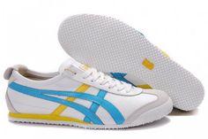 Mens Onitsuka Tiger Mexico 66 Lauta White Blue-Yellow Shoes #shoes