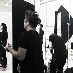 www.kayleighryleydesign.com is shooting the new look for a well known cosmetics brand at MILK Studios in LA. Coming Jan 2015 ! #hairandmakeup #h&m #design #photography #studio #fashion #blackandwhite #bts #beauty