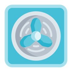 See more icon inspiration related to fan, fresh, air conditioner, cooling, cooler, ventilation, transportation, electronics, refreshing and technology on Flaticon.