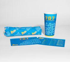 707 Submarine Sandwiches on Behance #sandwich #packaging #restaurant #brand #identity #submarine