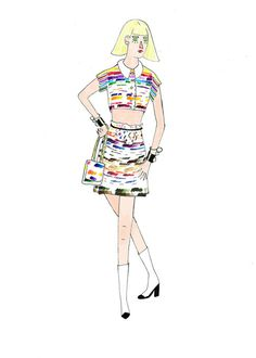 fashion illustration -chanel #woman #girl #illustration #colors #chanel #fashion
