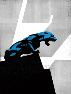 PANTHER17 #Illustration by Matt Stevens #Sports #NFL #Carolina #Panthers #American #Football #American #Football