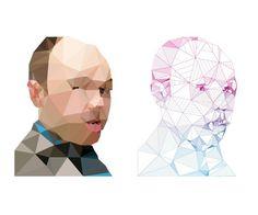 pilkington_triangulated.png (600×500) #protrait #triangle #delaunay #tirangulation