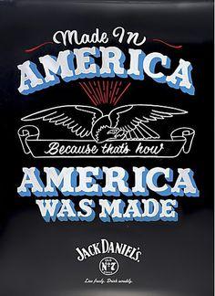 Jack Daniel's #lettering #handmade #poster #typography