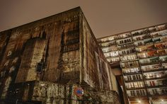 photo #concrete #raw #city #germany #night #building #berlin