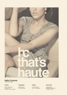 WANKEN - O Blog do Shelby Branco #couture #hello #moda #poster