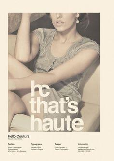 WANKEN - O Blog do Shelby Branco #couture #hello #moda #poster