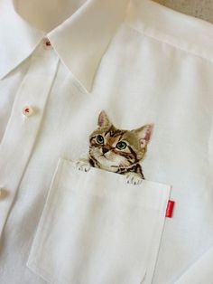 Дресс кот, Cat shirt #kitten #cat #shirt #pocket #fashion