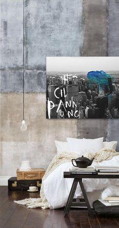 Bring your room to life - 'Big City Dreaming' Jake Hart Art http://jakehart.com.au/ #new york #concrete #loft #interior design #wood #rustic