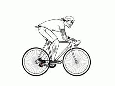 FFFFOUND!   clouds.gif (GIF Image, 500x374 pixels) #illustration #bicycle