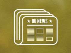 Dribbble - DU News by John Dozier #line #news #vector #icon #paper