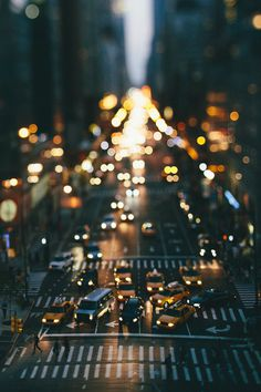 New York #streets #ny #cityscape #traffic #citylights #city #bokeh #taxi #york #new