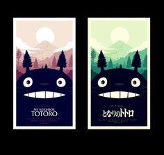 Olly Moss - I worked with Studio Ghibli and Mondo to create... #ghibli #studio