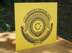 FPO: Chad Michael Smith Graduation Invitation #vector #line #card #design #art #type #graduation