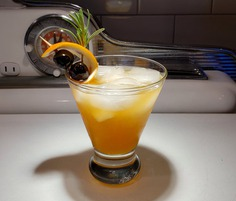 The Eagle's Rosemary Sour, photo by Michael Bonin winter whiskey sours