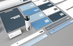 Espace on the Behance Network #design #identity #stationary #typography