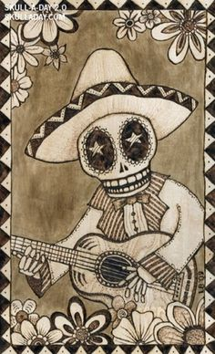 submission356a.jpg (image) #skull #mariachi