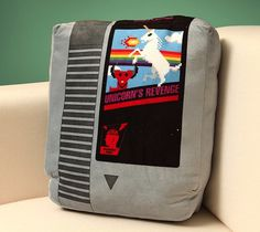 Retro Video Game Cartridge Pillow Set #gadget