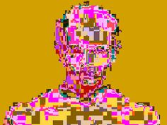 by pixel noizz #portrait #glitch #pixelart