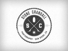 Dribbble SC Logomark v2 by Keiran Flanigan #logo #round #retro #vintage