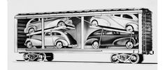 0cartrainloading-002.jpg #train #illustration #cars #transportation