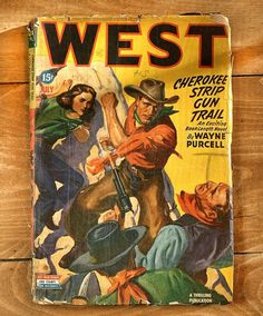 Vintage WEST cowboy comic book #western #market #book #comic #illustration #vintage #flea