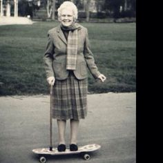 The Academy NY #grandma #skateboard