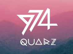 QUARZ 974 on the Behance Network #font #quarz #type #metal #typography
